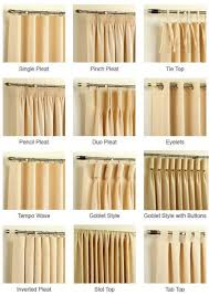 Different Curtain Styles | home and garden choices window and curtain headings
