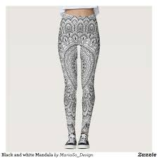 pattern leggings pinterest black and white mandala leggings all things zazzle pinterest