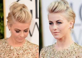 hairstyles golden globes julianne hough edgy fauxhawk for wedding 2013 golden globe