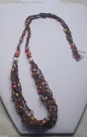 trellis ladder yarn necklace instructions 37 best crochet jewelry images on pinterest crochet jewellery