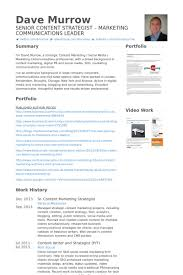Communications Resume Examples by Marketing Strategist Resume Samples Visualcv Resume Samples Database