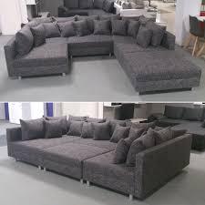 wohnzimmer couch xxl wohnlandschaft claudia ecksofa couch xxl sofa mit ottomane und