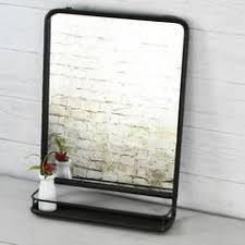 vintage bathroom mirrors metal wall mirror with shelf remodel pinterest metal walls