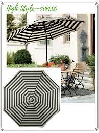 high low options black u0026 white outdoor umbrella confettistyle