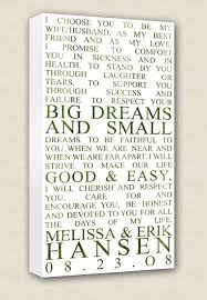 wedding keepsake quotes wedding vows canvas wall quotes keepsake words