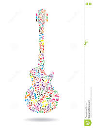 music notes guitar stock vector image 71836431