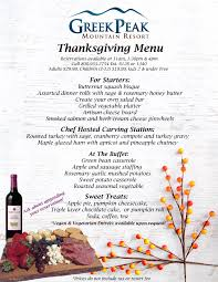 thanksgiving menu 2016 peak mountain resort