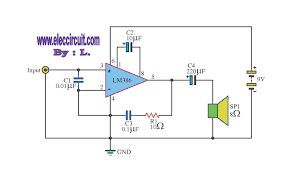 lm386 audio amplifier circuit with pcb