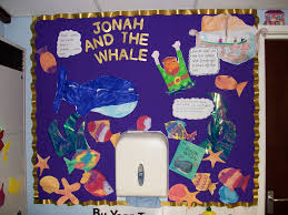 re display from ks1 illustrating the bible story jonah and the