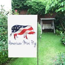 Mini Garden Flags American Flag Mini Pig House Flag 28