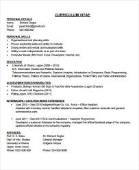 Office Boy Resume Format Sample by 31 Cv Format Templates Free U0026 Premium Templates
