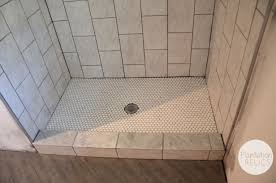 Floor Tile Ideas For Small Bathrooms Hall Bath Tile Design It U0027s Quite The Transformation Plantation