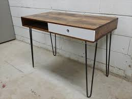industrial hairpin leg desk pallet recycled wood desk with hairpin legs pallet furniture plans
