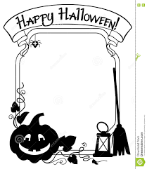 happy halloween pumpkin clipart black and white frame with halloween pumpkin silhouette stock