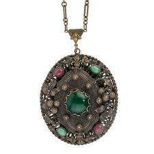 antique necklace pendants images Vintage and antique necklaces from victorian thru art deco to jpg