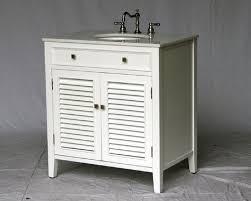 32 inch bathroom vanity cottage coastal beach style white color