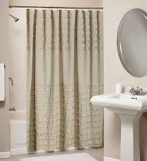 Design Shower Curtain Inspiration Decorations Polyester Ruffled Shower Curtain Design Ideas