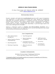 Profile In A Resume Examples Buying Assistant Resume Sample Market Economics Business