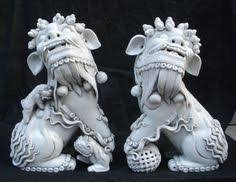 white foo dogs blue and white fierce foo dogs from china by eclectibleparts4u