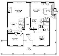 4 bedroom single story house plans 654151 one story 3 bedroom 2 bath southern country farmhouse