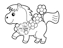 little horse coloring page for kids animal coloring pages