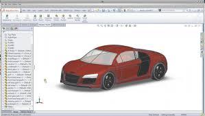 solidworks audi r8 car complete tutorial modellazione solida
