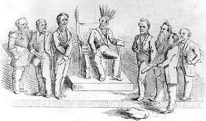 Cabinet Officers Caricature Of Abraham Lincoln Wearing Native American Headdress