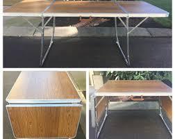Folding Wood Card Table Vintage Folding Card Table Etsy