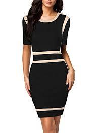 optical illusion dress miusol women s scoop neck optical illusion business