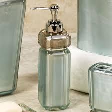 Glass Bathroom Accessories Sets Bath U0026 Shower Fabulous Mesmerizing Parpia Green Croscill Bath