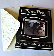 personalized dog photo album personalized pet sympathy cards pet condolence card dog