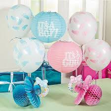 for baby shower idea for baby shower white pink blue balloon and lantern