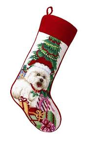 christmas needlepoint a of dogs bichon needlepoint christmas for the