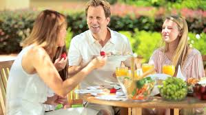 outdoor healthy picnic of family stock footage 3095944