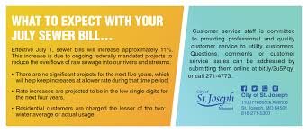 st joseph mo official website utility sewer billing