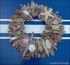 seashell wreath creative passage beachy driftwood and seashell wreath