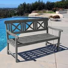 Outdoor Metal Furniture by Outdoor Benches Shop The Best Deals For Oct 2017 Overstock Com