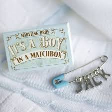 keepsake gifts for baby personalised nappy pin keepsake for baby boy by marvling bros ltd