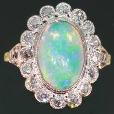 Opal Wedding Ring Sets by Opal Engagement Ring