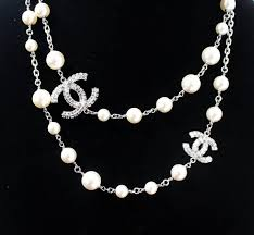 long silver pearl necklace images 57 chanel long necklace chanel long beaded cc necklace ruthenium JPG