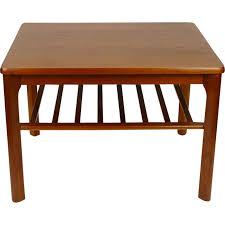 Teak Side Table Teak Side Table Modern With Newspaper Shelf 1960s