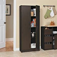 Utility Cabinet For Kitchen Amazon Com Closetmaid 1308 Pantry Cabinet Dark Cherry Home