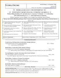 Sample Resume For Medical Billing And Coding by Billing Specialist Resume Example Resume Name