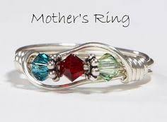 personalized rings for mothers personalized sterling s 3 birthstone family ring with free