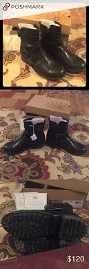 ugg womens finney boots s finney ugg moto boot black size 9 5 moto boots and black