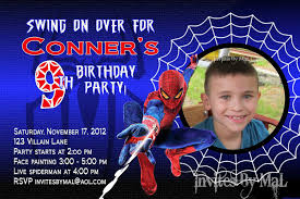 Birthday Invitation Card Download Spiderman Birthday Invitations Dhavalthakur Com