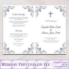 Catholic Wedding Ceremony Booklet Template catholic wedding program template diy navy blue order of ceremony