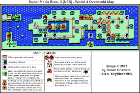 Super Mario World Map Super Mario Bros 3 World 4 Overworld Map Png Neoseeker