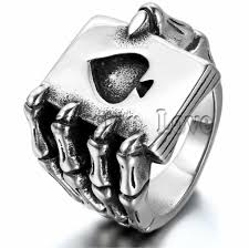 men rings vintage style stainless steel men rings skull claw