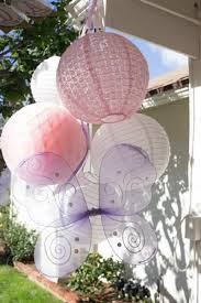 Precious Moments Baby Shower Decorations Gorgeous Baby Shower Paper Lanterns With Large Purple Butterfly